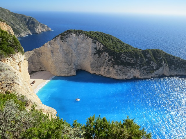 Navagio Beach on the coast of Zakynthos